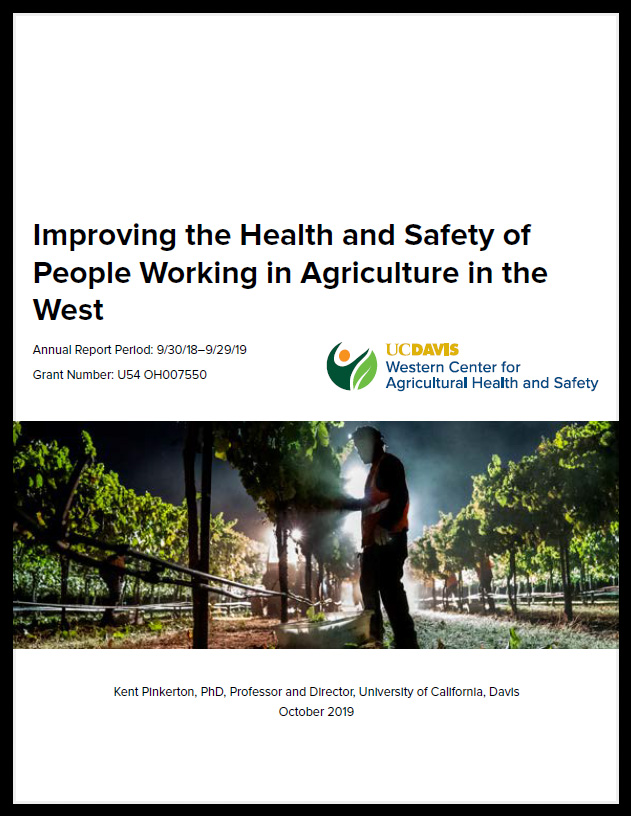 Annual NIOSH Report 2018–2019 cover