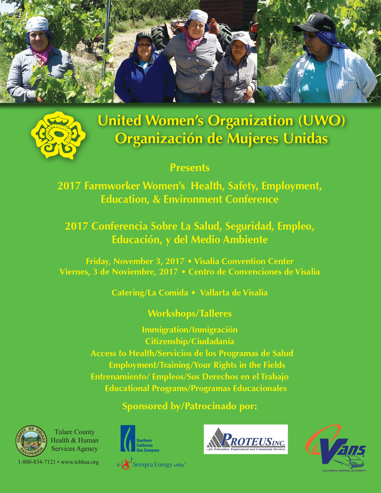 United Women's Organization 2017 Conference Flyer
