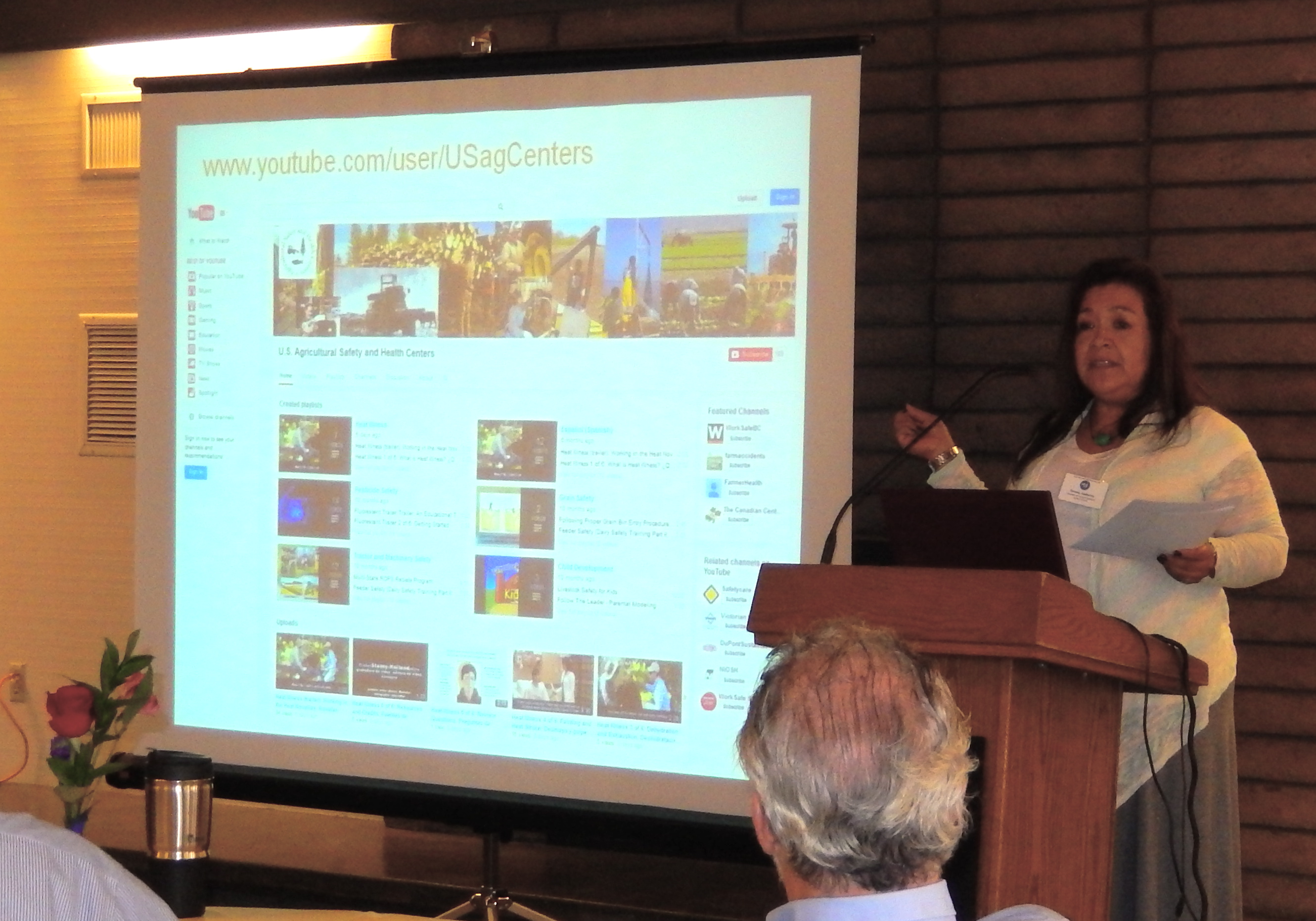 Teresa shows the variety of Ag Center videos available