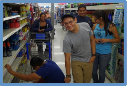 WCAHS researchers shop for supplies at WalMart