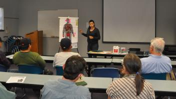 Leslie Olivares at an Outreach training in San Andreas, CA.