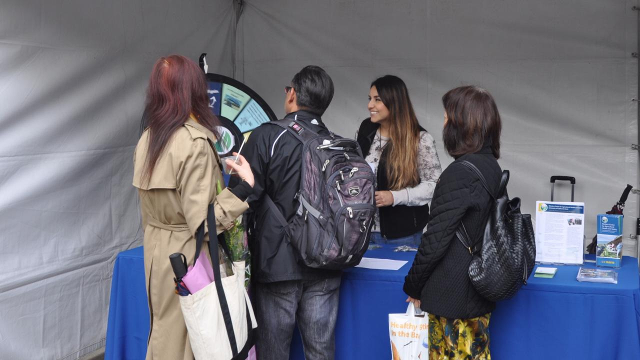 Isabel (center) at the WCAHS table for California's Agricultural Day held at the State Capitol in March.
