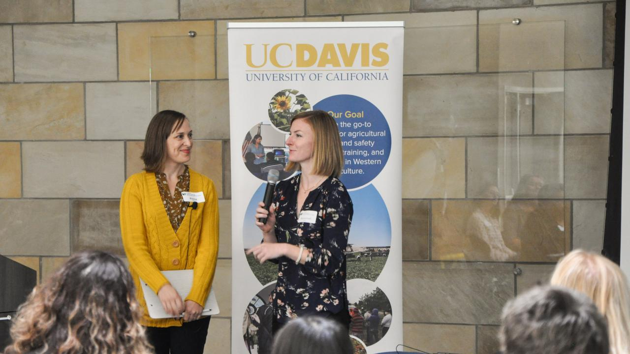 Alena Marie Uliasz and Savannah Mack answer questions about their research